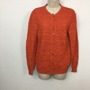 Missoni wave pattern button down cardigan size S